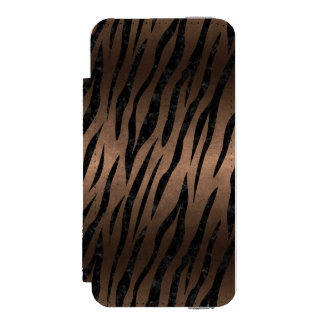 SKIN3 BLACK MARBLE & BRONZE METAL (R) INCIPIO WATSON™ iPhone 5 WALLET CASE