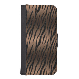 SKIN3 BLACK MARBLE & BRONZE METAL (R) iPhone SE/5/5s WALLET CASE