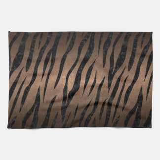 SKIN3 BLACK MARBLE & BRONZE METAL (R) KITCHEN TOWEL