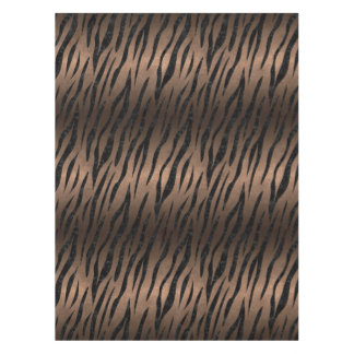 SKIN3 BLACK MARBLE & BRONZE METAL (R) TABLECLOTH