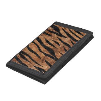 SKIN3 BLACK MARBLE & BROWN STONE (R) TRI-FOLD WALLET