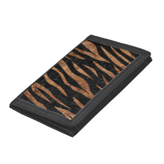 SKIN3 BLACK MARBLE & BROWN STONE TRI-FOLD WALLETS