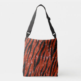 SKIN3 BLACK MARBLE & RED MARBLE (R) CROSSBODY BAG