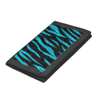 SKIN3 BLACK MARBLE & TURQUOISE MARBLE TRIFOLD WALLETS