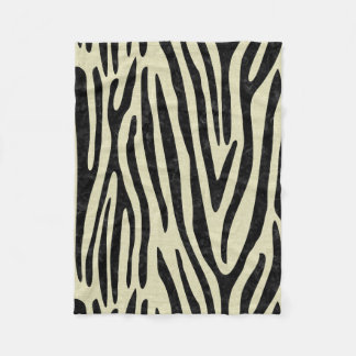 SKIN4 BLACK MARBLE & BEIGE LINEN FLEECE BLANKET