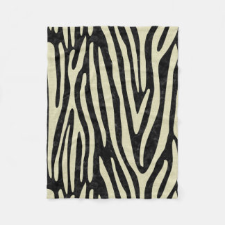 SKIN4 BLACK MARBLE & BEIGE LINEN (R) FLEECE BLANKET