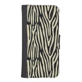 SKIN4 BLACK MARBLE & BEIGE LINEN (R) iPhone SE/5/5s WALLET CASE
