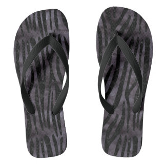SKIN4 BLACK MARBLE & BLACK WATERCOLOR FLIP FLOPS