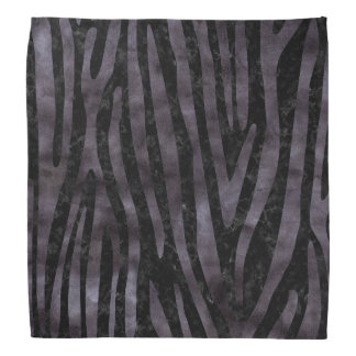 SKIN4 BLACK MARBLE & BLACK WATERCOLOR (R) BANDANA