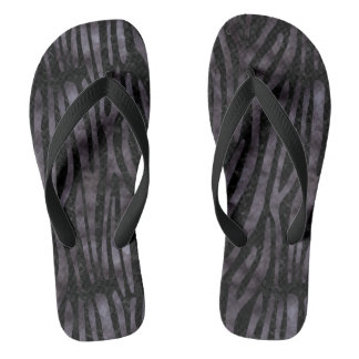 SKIN4 BLACK MARBLE & BLACK WATERCOLOR (R) FLIP FLOPS