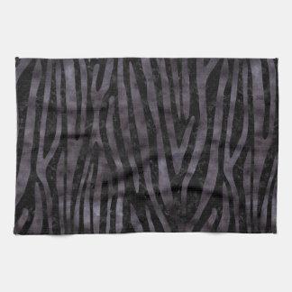 SKIN4 BLACK MARBLE & BLACK WATERCOLOR (R) KITCHEN TOWEL