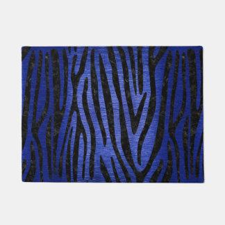 SKIN4 BLACK MARBLE & BLUE BRUSHED METAL DOORMAT