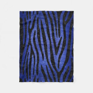 SKIN4 BLACK MARBLE & BLUE BRUSHED METAL FLEECE BLANKET