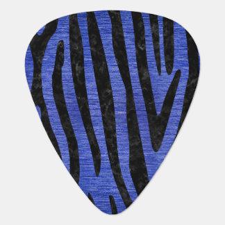 SKIN4 BLACK MARBLE & BLUE BRUSHED METAL GUITAR PICK