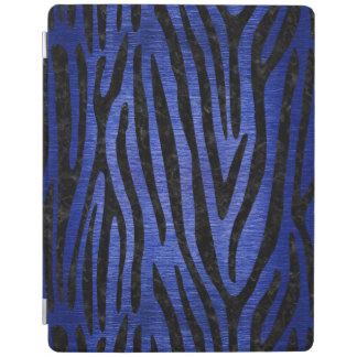 SKIN4 BLACK MARBLE & BLUE BRUSHED METAL iPad COVER