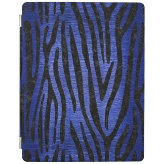 SKIN4 BLACK MARBLE & BLUE BRUSHED METAL iPad SMART COVER
