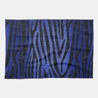 SKIN4 BLACK MARBLE & BLUE BRUSHED METAL KITCHEN TOWEL