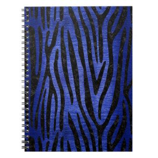 SKIN4 BLACK MARBLE & BLUE BRUSHED METAL NOTEBOOK
