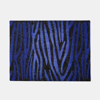 SKIN4 BLACK MARBLE & BLUE BRUSHED METAL (R) DOORMAT