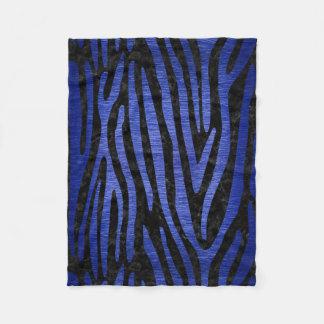 SKIN4 BLACK MARBLE & BLUE BRUSHED METAL (R) FLEECE BLANKET