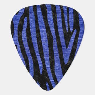 SKIN4 BLACK MARBLE & BLUE BRUSHED METAL (R) GUITAR PICK