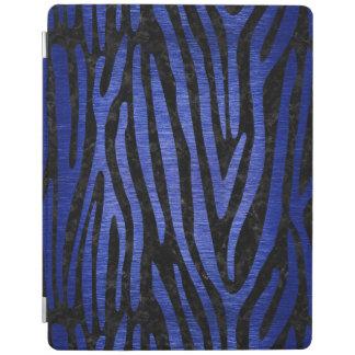 SKIN4 BLACK MARBLE & BLUE BRUSHED METAL (R) iPad COVER