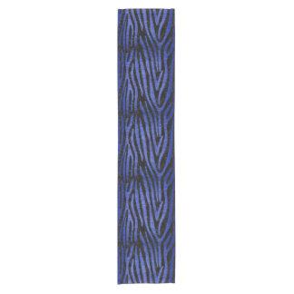 SKIN4 BLACK MARBLE & BLUE BRUSHED METAL (R) SHORT TABLE RUNNER