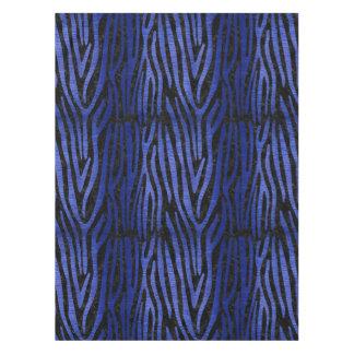 SKIN4 BLACK MARBLE & BLUE BRUSHED METAL (R) TABLECLOTH