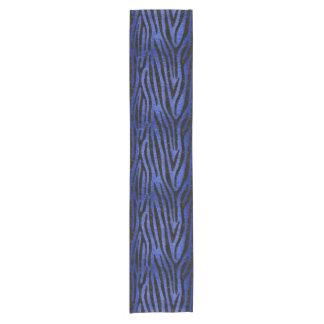 SKIN4 BLACK MARBLE & BLUE BRUSHED METAL SHORT TABLE RUNNER