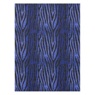 SKIN4 BLACK MARBLE & BLUE BRUSHED METAL TABLECLOTH