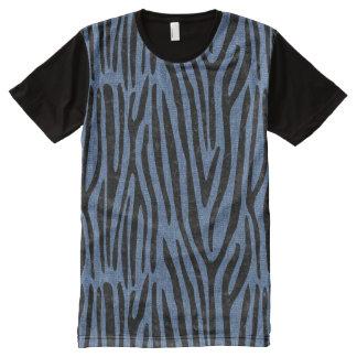 SKIN4 BLACK MARBLE & BLUE DENIM All-Over-Print T-Shirt