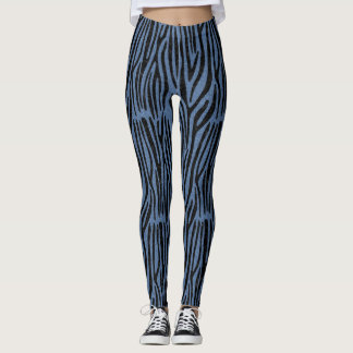 SKIN4 BLACK MARBLE & BLUE DENIM LEGGINGS