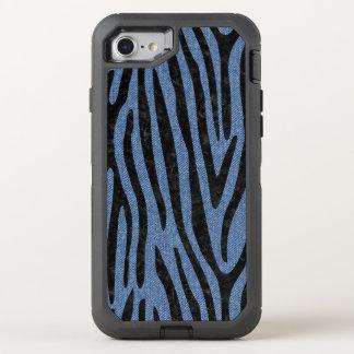 SKIN4 BLACK MARBLE & BLUE DENIM OtterBox DEFENDER iPhone 8/7 CASE