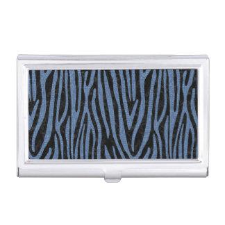 SKIN4 BLACK MARBLE & BLUE DENIM (R) BUSINESS CARD HOLDER