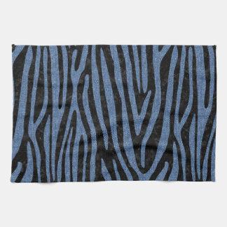 SKIN4 BLACK MARBLE & BLUE DENIM (R) KITCHEN TOWEL