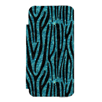 SKIN4 BLACK MARBLE & BLUE-GREEN WATER INCIPIO WATSON™ iPhone 5 WALLET CASE