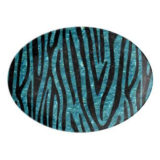 SKIN4 BLACK MARBLE & BLUE-GREEN WATER PORCELAIN SERVING PLATTER