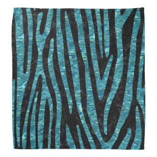 SKIN4 BLACK MARBLE & BLUE-GREEN WATER (R) BANDANA