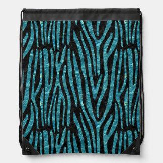 SKIN4 BLACK MARBLE & BLUE-GREEN WATER (R) DRAWSTRING BAG