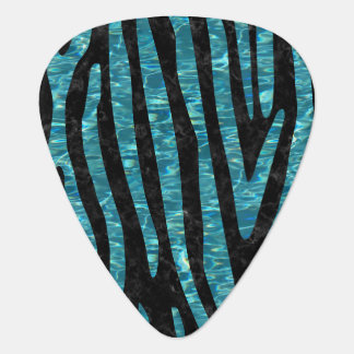SKIN4 BLACK MARBLE & BLUE-GREEN WATER (R) GUITAR PICK