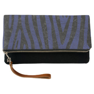 SKIN4 BLACK MARBLE & BLUE LEATHER CLUTCH