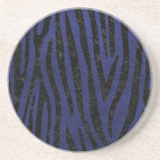 SKIN4 BLACK MARBLE & BLUE LEATHER COASTER