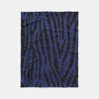 SKIN4 BLACK MARBLE & BLUE LEATHER FLEECE BLANKET