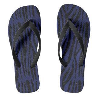 SKIN4 BLACK MARBLE & BLUE LEATHER FLIP FLOPS