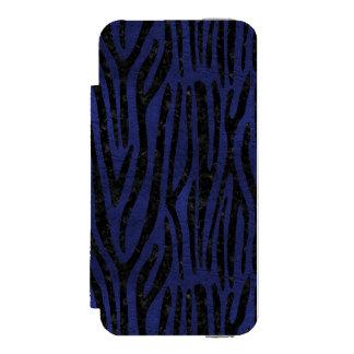 SKIN4 BLACK MARBLE & BLUE LEATHER INCIPIO WATSON™ iPhone 5 WALLET CASE