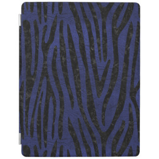 SKIN4 BLACK MARBLE & BLUE LEATHER iPad COVER