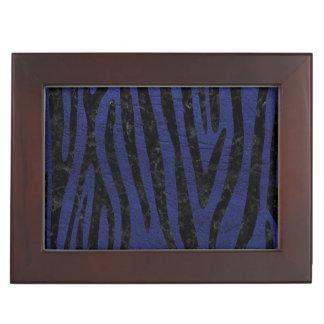 SKIN4 BLACK MARBLE & BLUE LEATHER KEEPSAKE BOX