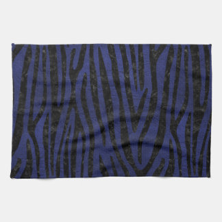 SKIN4 BLACK MARBLE & BLUE LEATHER KITCHEN TOWEL