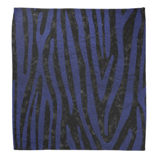 SKIN4 BLACK MARBLE & BLUE LEATHER (R) BANDANA