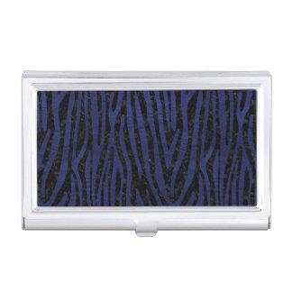 SKIN4 BLACK MARBLE & BLUE LEATHER (R) BUSINESS CARD HOLDER